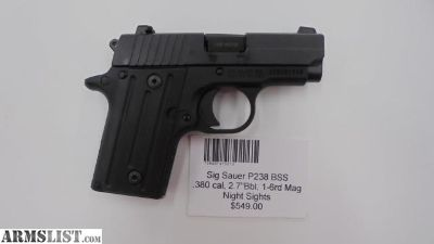 For Sale: Sig Sauer P238 BSS