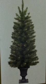 4.5 Ft Tree In Urn - 50 Lights - NEW IN BOX
