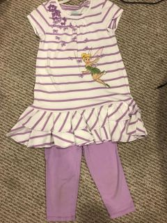 Disney store tinker bell capri outfit size 5/6