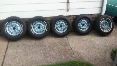 Sell 1957 Chevy Wheels,tires and hubcaps, with extra wheel and tire for spare. Rally motorcycle in Melvindale, Michigan, United States, for US $225.00