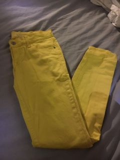 Yellow Old Navy Rock Star Skinny Jeans