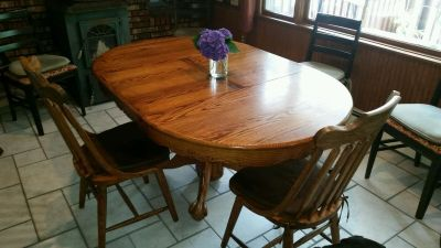 Solid Wood Kitchen Table & 2 Chairs