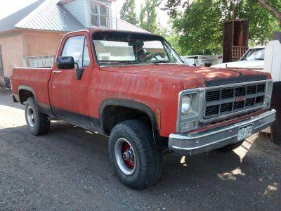 1980 GMC Sierra Grande Half Ton 4X4 Short Bed Pickup Truck