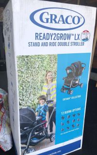 Graco Ready2Grow LX double stroller NEW IN BOX