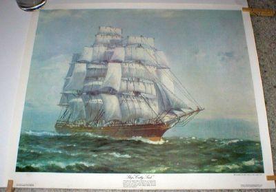 "Sailing Ship - ""Cutty Sark"" Art Print by John Allcot - Printed in Australia 1972"