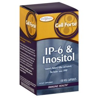 Enzymatic Therapy Cell Forte IP-6 & Inositol Gluten-Free 120 Veggie Caps 07/19 New Sealed