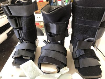 Various ortho boots and shoes