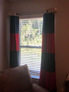 Pottery Barn Blackout Rugby Drapes