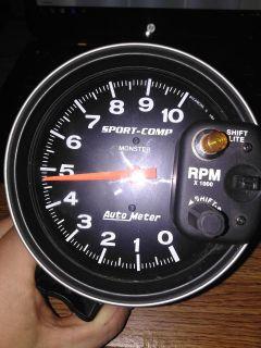 "5"" AutoMeter Sport-Comp Monster Shift-Lite Tachometer"