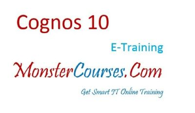 Cognos Online Training at Monstercourses