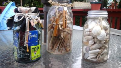 Vintage Filled Mason Jars-Assembled By Crafter