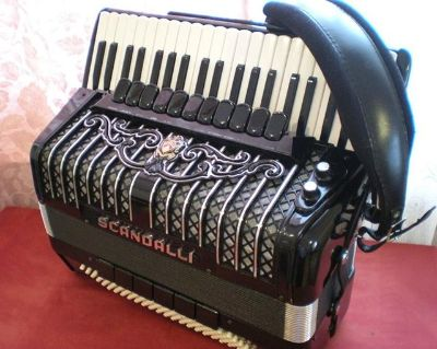 SCANDALLI Super Six Accordion Made in Italy   2000