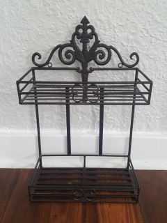 Heavy Wrought Iron Shelves Great for kitchen or Bath