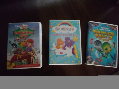 Tigger & Pooh Chtistmas, CareBears & A Turtle Tales DVD