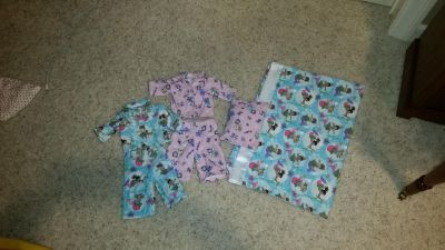 TWO sets Pj's for American Girl doll, pillow, and a pillowcase for an actual bed pillow.