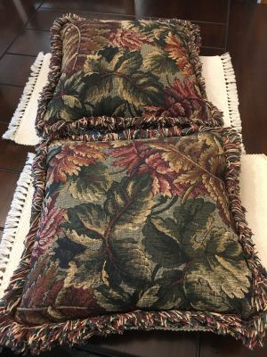 "2 Throw Pillows - 15"" Square"