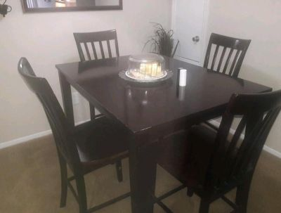 Solid Wood Bar Height Dining Table