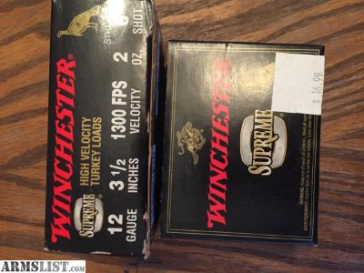 For Sale: Winchester supreme 12 gauge high velocity turkey loads