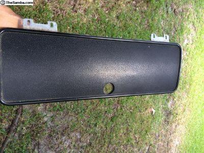 Glove box door with hinges