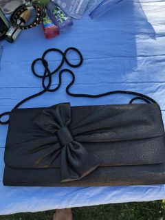 Like New gorgeous evening bag with bow ((MOVING SALE))