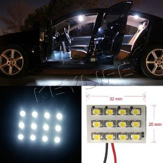 Sell 2X WHITE LEDDOME MAP INTERIOR LIGHT BULB SMD 12-LED PANEL XENON HID LAMP motorcycle in Cupertino, CA, US, for US $5.99