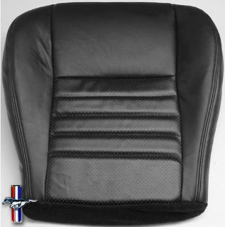 Sell 99-04 Ford Mustang GT Driver Side Bottom PERFORATED Leather Seat Cover BLACK motorcycle in Houston, Texas, US, for US $189.00