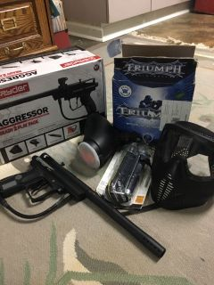 New Spyder Paintball Aggressor Ready 2 Play Pack