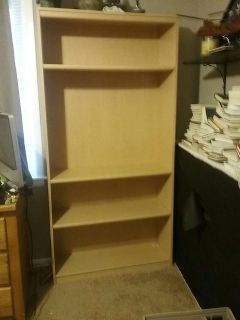 Blond colored bookcase