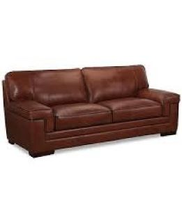 "Myars 91"" Leather Sofa Reg. $1,849.00 ===> OUTLET PRICE $799.00"