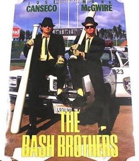 "Vintage 1988 MARK MCGWIRE/JqOSE CANSECO OAKLAND A'S ""BASH BROTHERS"" 20X30 POSTER PRINT"
