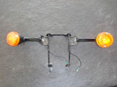 Purchase Vintage 1982 Kawasaki AR50 Motorcycle Front Turn Signals With Bracket Very Nice motorcycle in Plant City, Florida, US, for US $89.99