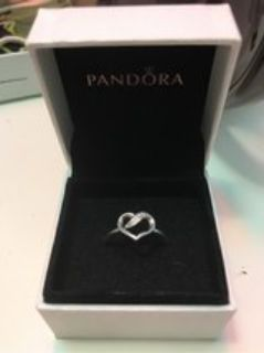 Silver Infinity Heart Ring