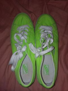 Vans lime green shoes