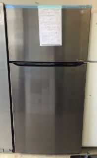 LG 24cu.ft Top Freezer Refrigerator in Black Stainless Steel