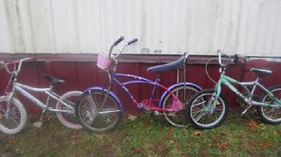 $20 Three Bikes 2 Girls and 1 Boy All for One Price