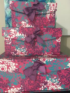 Set of 3 stack boxes