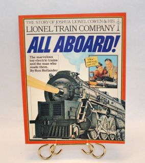 Vinatge 1981 All Aboard The Story of Joshua Lionel Cowen and His Train Company Soft Cover Book
