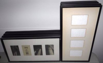 """New! 8 Wood Frame Matted 10 x 20"""" Picture Frames"""