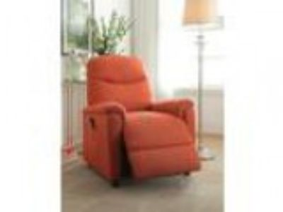Catina collection orange fabric upholstered electric lift reclin