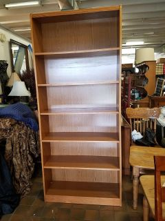 Bookcase with adjustable shelves $100 plus tax