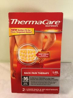 Thermacare Advanced back pain therapy air activated heat wraps, size large -extra large