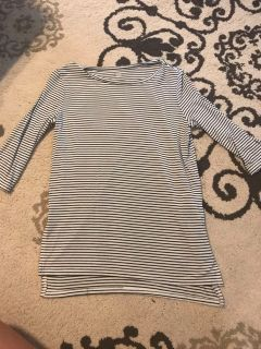 Old Navy girls striped tunic top very soft WORN ONCE size 8 PPU