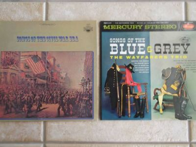 Songs of the Civil War Era/ Songs of the Blue and Grey - 2 records