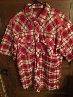 Evolution In Design: Men s Red Plaid Shirt Size 2XL $8 Pick Up In McDonough