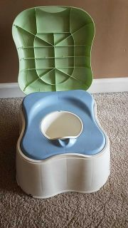 Safety first step stool and potty.