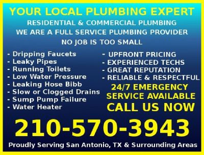 ☑ 24/7 SAME-DAY PLUMBERS | FREE ESTIMATES | QUALITY REPAIRS