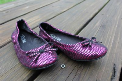 Girls size 13 Ballerina Flats by Justice/ Pink