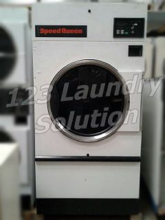 Coin Operated Speed Queen Single pocket Dryer 50LB ST050NBCF3​G1W01 White Used
