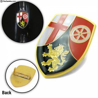 VW Coat of Arms of Rhineland-Palatinate Hood Badge