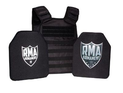 100 USA made, NIJ Certified body Armor, Multi Hit, lite weight